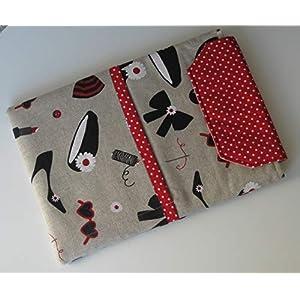 Handmade – Tablet Tasche Hülle Etui Case Sleeve- für Tablet bis 11″ Zoll (Tablet Größe 18 x 25 cm) – women fashion in Leinenoptik