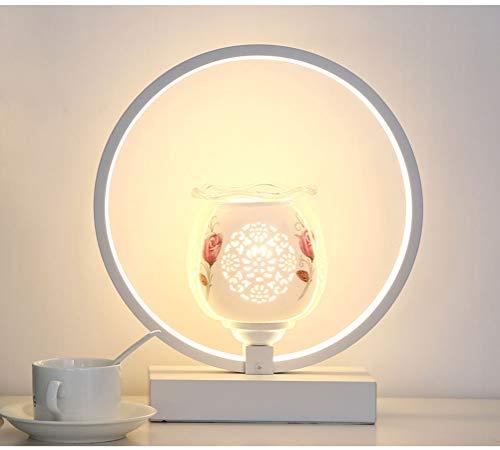 LED Nachttischlampe mit Höhle schnitzte Cup Dekoration Nachtlampe Tischlampe for Schlafzimmer Wohnzimmer Study Room Schreibtisch Lampen Lichtdrehschalter 3 Modus Warm White Natürliches Licht