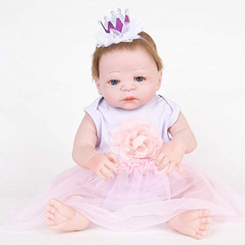 Hongge Reborn Baby Doll,Lebensechte Reborn Puppe Sieht echte Handarbeit lebensechte Weißhe live Puppe 58cm