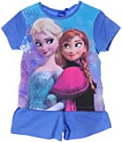 Shortama Kinder Shorty Set Frozen T-Shirt Eiskönigin Anna ELSA Schlafanzug Shirt (4J - 104)