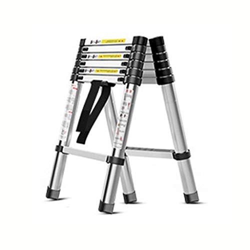 GYL Scala Multiuso Lega di Alluminio Telescopica Scala, Folding Extension Ladder A-Frame con Interruttore di Sicurezza, Multiuso (330 Lb Capacity) (Size : 2.6+2.6m)