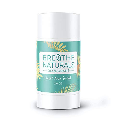 Breathe Naturals - 100% Natural Deodorant - (Bergamot Lime) - Vegan, Gluten Free, Cruelty Free - Free of Aluminum, Parabens & Sulfates - Made in the USA - Unisex - 2.6 oz - Safe for Sensitive Skin