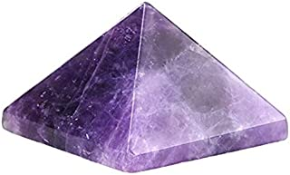 White Whale Healing Crystal Amethyst Pyramid Metaphysical Natural Gemstone Figurine