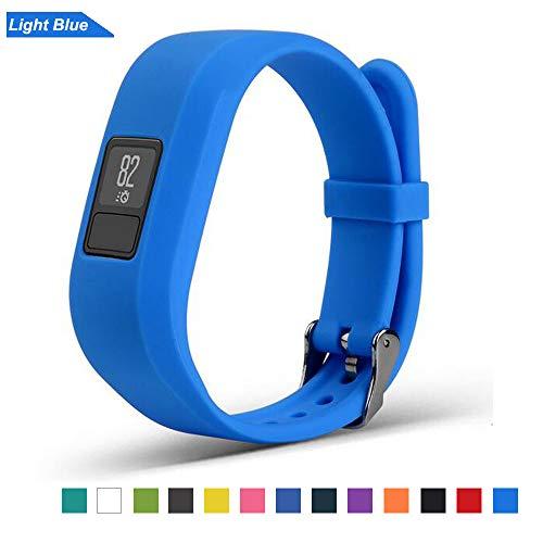 Bemodst Uhrenarmbänder für Garmin Vivofit 3 Smartwatch, Silikon Ersatz Armband Garmin Vivofit3 Sport Uhrenarmband für Männer Frauen (Blau)