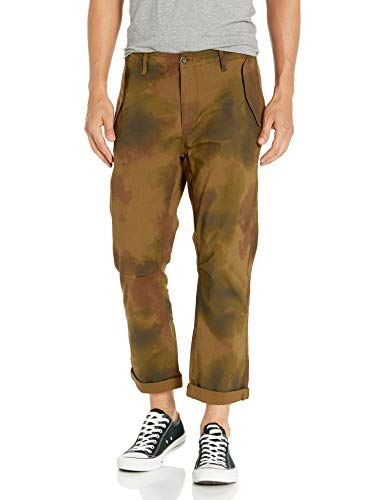 AG Adriano Goldschmied Men's The Turner Utility Loose Crop, Watercolor Camo Dried Grass, 34