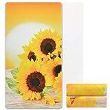 Alishomtll Sunflower Beach Towel, Yellow Sunshine Beach Towel, Super Soft Beach Towel Sand Free Quick Dry Beach Towels, 31.5 x 59 Inches