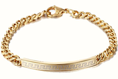 SaySure - Punk Link Chain Bracelet Stainless Steel
