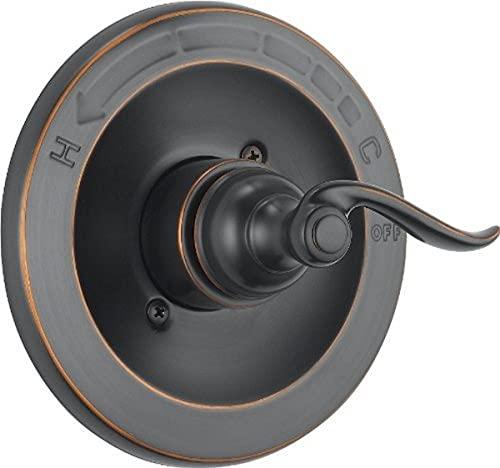 DELTA Windemere 14 Series Single-Function Shower Handle Valve Trim Kit, Oil Rubbed Bronze BT14096-OB (Valve Not Included)