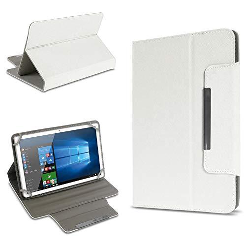 UC-Express Schutz Tasche für Tablet Hülle Schutzhülle Universal 10 Zoll Cover Hülle Etui Bag, Farben:Weiß, Tablet Modell für:BLAUPUNKT Endeavour 1000 WS