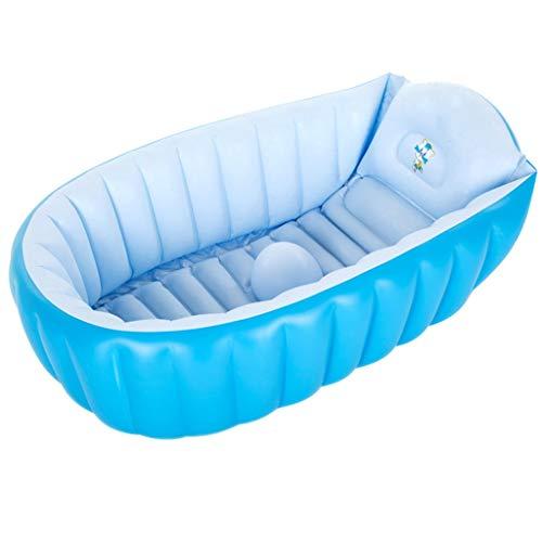 DWW Opblaasbare kinderbadkuip, groot douchebak, antislip, PVC-materiaal, Friendly opvouwbaar, vrijstaande massagebadekuip, blauw