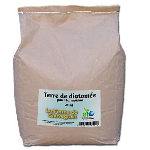 La Ferme Sauvegrain Terre de Diatomée pour Punaises de lit Fourmis Cafards et Araignées - Traitement Naturel - 25kg