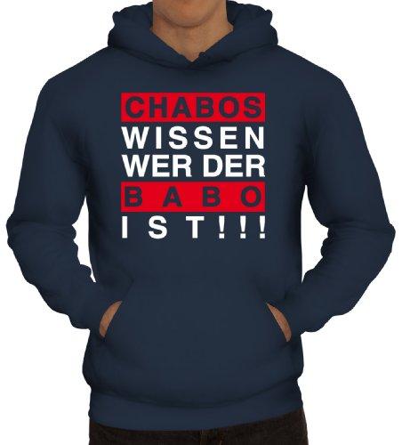 Shirtstreet24, Chabos wissen wer der BABO ist!!! Boss Herren Kapuzen Sweatshirt - Pullover Hoodie, Größe: L,Navy