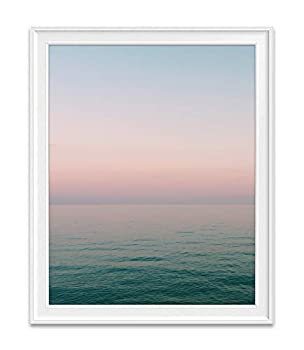 Sunset Sunrise Beach Ocean Nautical Photography Print Unframed Beautiful Abstract Colored Coastal Home and Wall Decor All Sizes