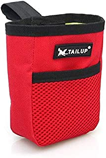 Outdoor Pet Dog Treat Training Pouch Bag Snack Food Bag Dispenser 3 Ways To Wear 2020 New Hot (Red)
