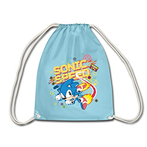 Spreadshirt Sonic The Hedgehog Sonic Speed Turnbeutel, Aqua