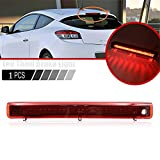 1 luz LED de tercer freno de la lámpara de freno de montaje de la luz trasera de freno de coche roja compatible con Renault Megane MK3 Hatchback 2008-2016