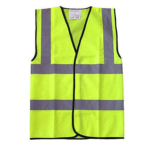 Gilet catarifrangente ad alta visibilità, colore giallo ad alta visibilità, riflettente, Gilet di sicurezza, da lavoro