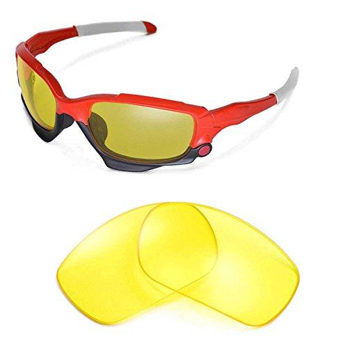 Walleva Ersatzgläser für Oakley Racing Jacket Sonnenbrille - Mehrfache Optionen (Gelb)