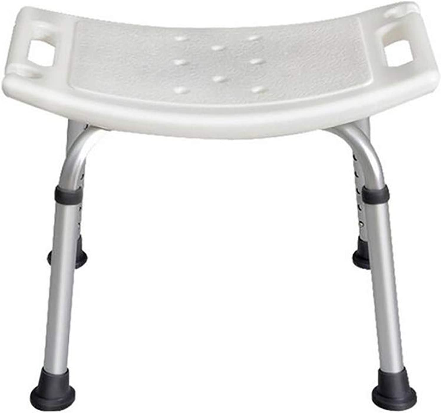 SISHUINIANHUA Shower Seat,Adjustable Height,Lightweight Folding,Suitable For The Elderly And Pregnant Women,Aluminum Alloy,Non-Slip Base,With Shower Hole [Energy Class A]