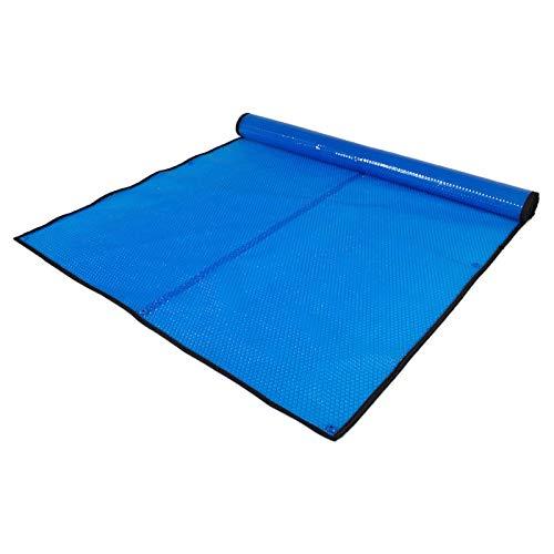 JLXJ Cobertor Solar Piscinas Tarea Pesada Burbuja Cubiertas Solares para Piscinas, Rectángulo sobre el Suelo Lona con Ojales, Polvo Impermeable Mantas de Almacenamiento de Calor