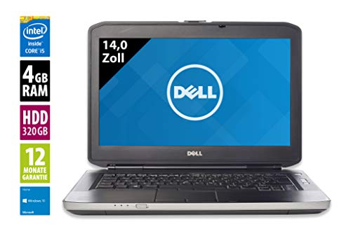 Dell Latitude E5430 | Notebook | Laptop | 14 Zoll (1366x768) | Intel Core i5-3340M @ 2,7 GHz | 4GB DDR3 RAM | 320GB HDD | Windows 10 Home (Generalüberholt)
