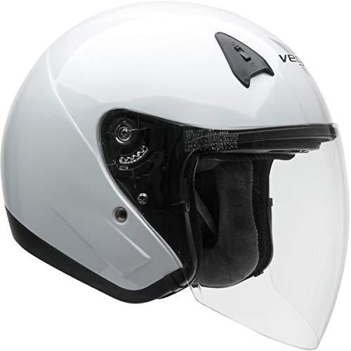 Vega Helmets Unisex-Adult Style VTS1 3/4 Open Face Helmet Pearl (White, Small)