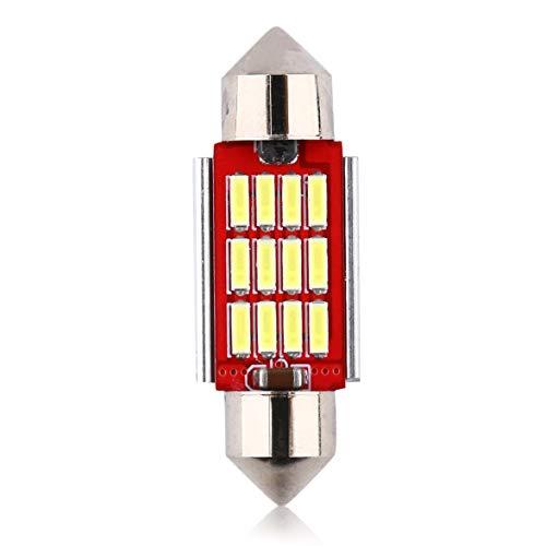 Logicstring 4014-12Smd Radiación De Calor Interior del Coche Luces Led Lámpara Mapa Automático Bombillas De Lectura del Techo Luz De Cúpula del Coche Luz De Matrícula Resaltada