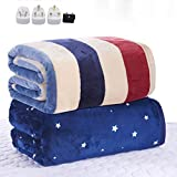GHJK Electric Heated Throw Banket,Heated Blanket 110-220V Thicker Single Electric Mattress Thermostat Electric Blanket Security Electric Heating Blanket Warm Electric Blanket