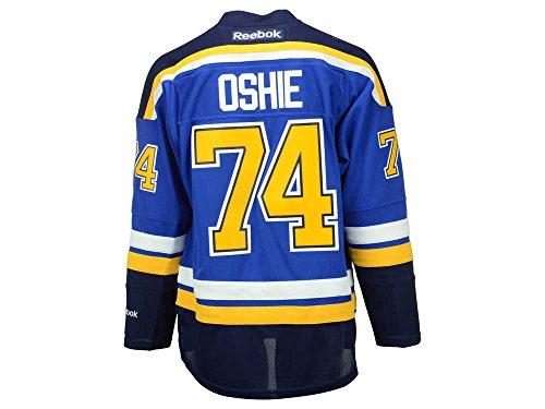Reebok NHL Eishockey Trikot Jersey Premier St. Louis Blues TJ Oshie #74 blau (S)