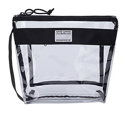 Rough Enough Multifunktion Eco Transparent Fancy TSA zugelassene Toilettentasche Clear Make-up Case Kosmetik-Veranstalter auf Reisezubehör Aufbewahrungsbeutel Halter mit Fach...