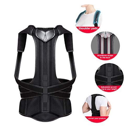 BKMWL Verstellbarer Schultergurt Adult Shoulder Back Posture Corrector Korrekte Körperhaltung Reduzieren Sie den Rückendruck Korsett für die Rückenstütze,S