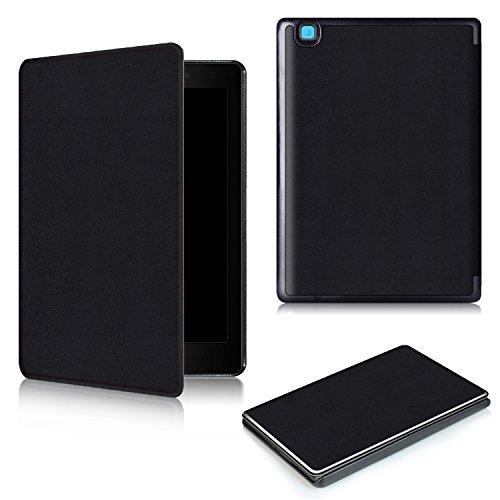 KUWEI KOBO Aura One 7.8 Inch Hülle Case Cover, Slim Smart PU faltbar Stand Cover Case Tasche mit Auto Wake/Sleep Funktion Schutzhülle 2018 Tablet schwarz