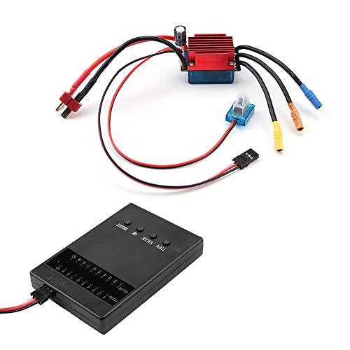 35A Brushless ESC - Controlador de velocidad eléctrico impermeable con tarjeta de...