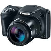 Canon PowerShot SX420 IS 20MP Digital Camera with 42x Optical Zoom (Black) - Manufacturer Refurbished