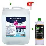Eilfix home BC-Sept® nova Anwendungsfertig Flächendesinfektion 5 L Kanister + Auslaufhahn + BIOHY Creme Seife 1L - Parfümfreies Flächendesinfektionsmittel...