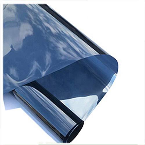 ZXL Raamfolie, zonwerende folie, wegwerpperspectief, glasfolie, huishouden, raamfolie, sticker, anti-peep, balkon, schaduw, parasol, 100 x 100 cm, (maat: 60 x 100 cm)