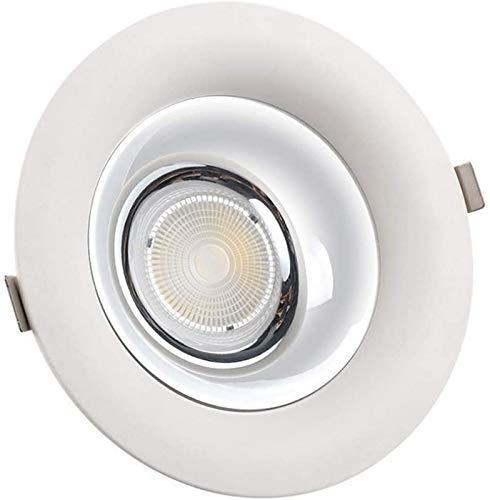 KANGSHENG Focos empotrables LED COB 7W Super Bright Down Lights Techo Recortado 65 mm Iluminación de Acento Accesorio de Aluminio Fundido a presión 3000K 4000K 6000K 110-240V para Vitrina de Tienda