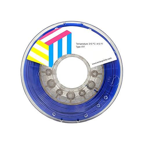 Eolas Prints | Filamento PLA 1.75 | Stampante 3D | Made in Europa | Adatto per l'uso con alimenti e creare giocattoli | 1,75 mm | 250g | Blu