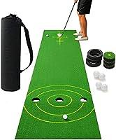 WCD ゴルフパッティングマット、パッティンググリーンゴルフパッティングマット、ゴルフパッティンググリーンマット、ゴルフパッティング練習マット、ゴルフトレーニングマット、屋内/屋外用ゴルフ練習マット
