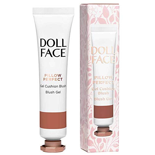 DOLL FACE Liquid Blush for Cheeks | Pillow Perfect Gel Cushion Blush | Cream Blusher Makeup | Lightweight, Blendable & Buildable Natural Radiance (Nudie)