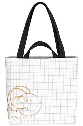VOID Kaffeefleck Tasche 33x33x14cm,15l Einkaufs-Beutel Shopper Einkaufs-Tasche Bag