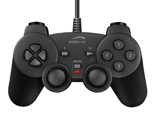 Speedlink Strike² Gamepad für den Computer (Vibrationsfunktion, PC-Controller mit USB) schwarz