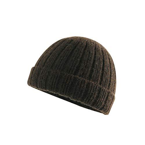FX 男性用帽子、女性用帽子、秋と冬のウールの帽子、ドームトゥキャップ、男性と女性ヒップホップの帽子 (Color : Dark Gray)