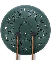 KUDOUT Tambor de Lengüetas,C Chiave 12 PulgadasTongue Drum,13 Notas Percusión Tambor de la Lengua con Bolsa de Viaje Acolchada, par de mazos,púas de Dedo
