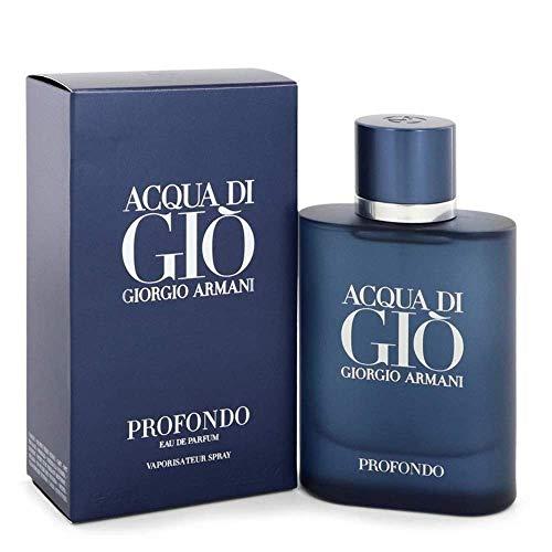 GIORGIO ARMANI ACQUA DI GIO Profondo Eau DE Parfum 125ML VAPORIZADOR Unisex Adulto, Negro, Único