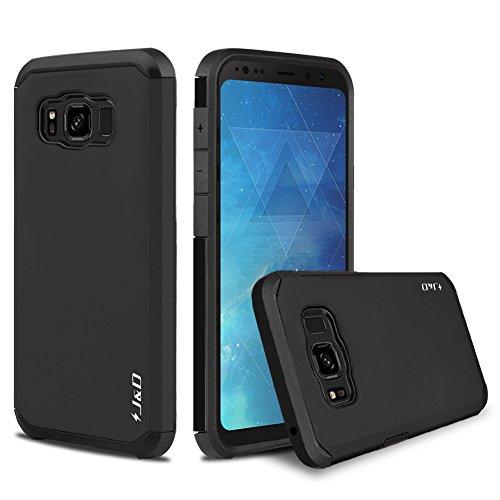 JundD Schutzhülle kompatibel für Galaxy S8 Active, robust, zweilagig, Hybrid-Hülle, stoßfest, stoßfest, für Samsung Galaxy S8 Active – [nicht für Galaxy S8 Edge/Galaxy S8 – Schwarz