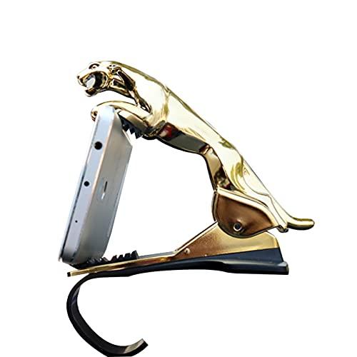 Zhantie Soporte de teléfono en forma de leopardo para tablero de instrumentos de coche adhesivo primavera teléfono celular clip soporte para auto parabrisas Dash