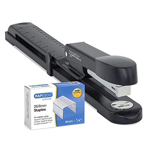 Rapesco 1464 Germ-Savvy™ Antibatterico: Marlin Spillatrice a Braccio Lungo y 5000 Punti 26/6 mm - Nera