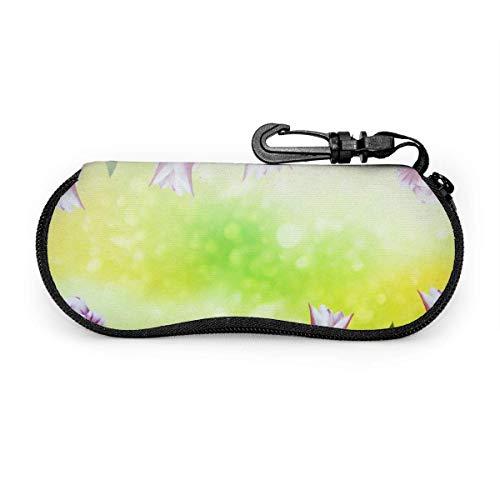 Tcerlcir Estuche para gafas Colorido Tulipán Flores florales Gafas de sol suaves Estuche para anteojos Bolsa para hombres Mujeres Viaje 17X8cm