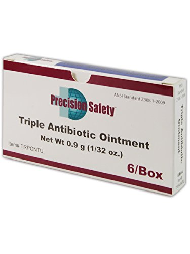Magid Glove & Safety TRPONTU Precision Safety Triple Antibiotic Ointment, 0.09 g per Foil Packet, White (80 Packets)